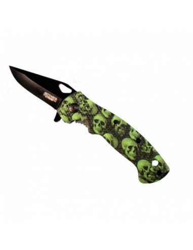 7.5 inch folding knife green Cranes